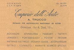 Storia Attilio Trucco, Genova, ricambi auto e moto